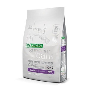 Nature's Protection   SC White  Dogs Grain Free Salmon Junior All  Breeds 1,5 KG