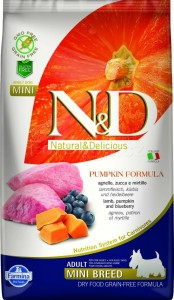 N&D GF PUMPKIN LAMB&BLUEBERRY ADULT MINI 800g